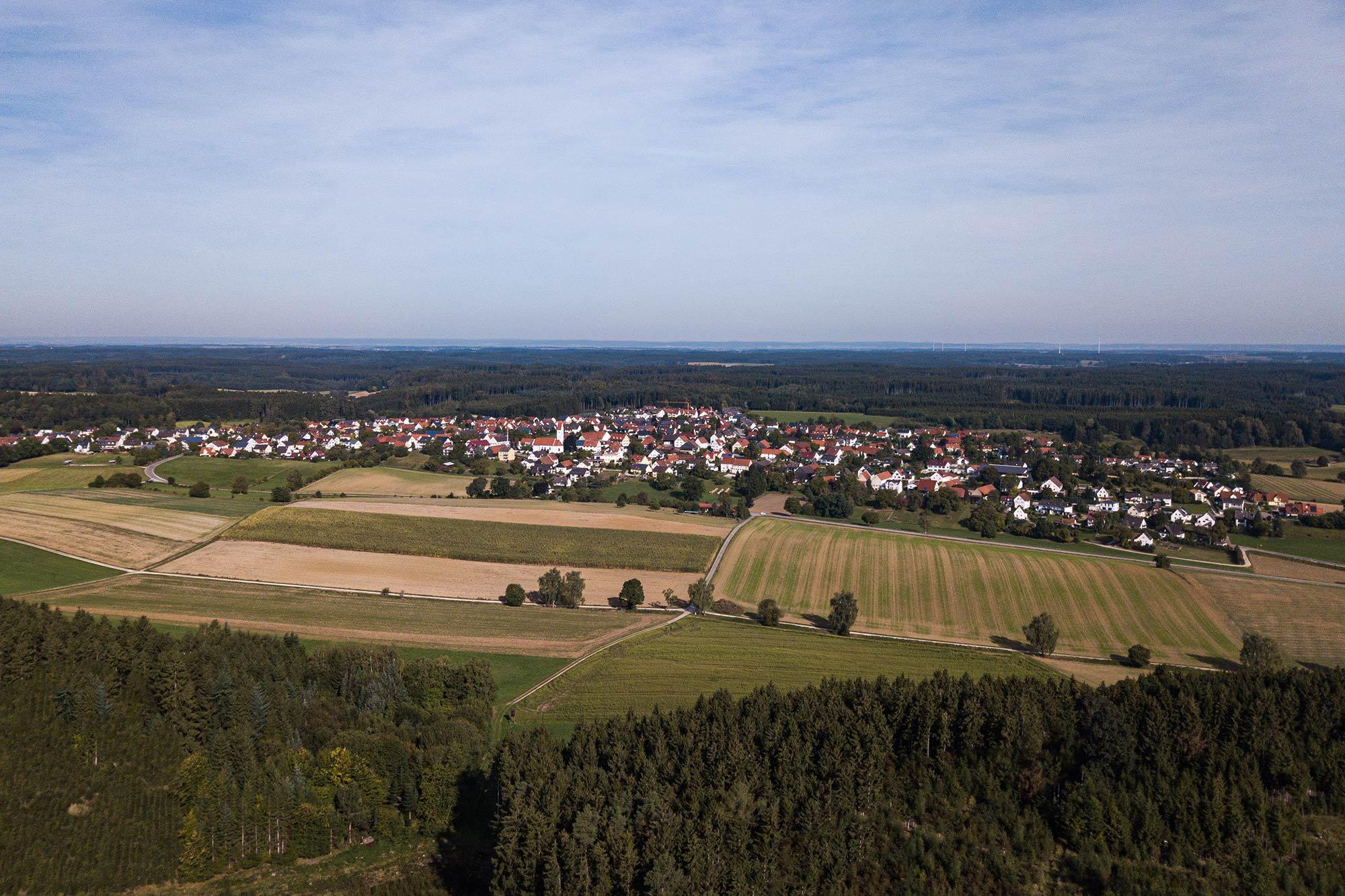 Luftaufnahme von Lützelburg